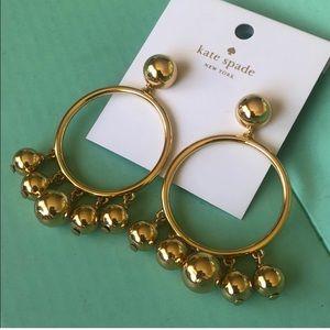 Kate Spade Ball Bauble Drop Hoop Earrings